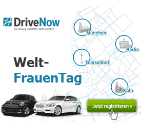 DriveNow Weltfrauentag Aktion